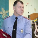 Начальник Чечерского РОВД Владимир Бухавцов рассказал школьникам из Бабич  о своей службе в воздушно-десантных войсках