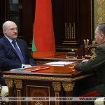 Лукашенко обсудил с министром обороны замысел белорусско-российского учения «Запад-2021»